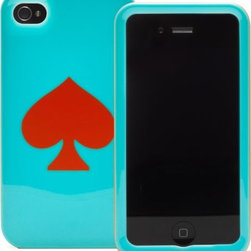 kate spade iPhone 4 Blue Red Spade Cover - I literally bought this five minutes ago so now I'm adding it to Houzz. It's so fabulous I cannot even stand it, and I cannot wait for it to get here!