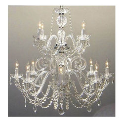 Gallery - Gallery T40-410 Authentic 12 Light 1 Tier Crystal Candle Style Chandelier - Features: