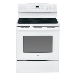 "GE - JB690DFWW 30"" 5.3 cu. ft. Oven Capacity Free-Standing Convection Electric Range - A GE electric range will meet all your cooking needs for years to come from warming a simple pan of soup for one person to handling a large dinner party or holiday meal for the whole family Plus your stove will look great in your kitchen and clean up..."