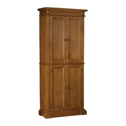 Home Styles - Home Styles Kitchen Pantry in Distressed Oak Finish - Home Styles - Pantry ...