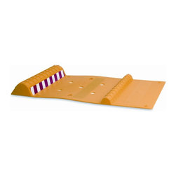 Maxsa Innovations - Park Right Parking Mat in Yellow - Helps park your car safely and easily. Prevents damage to your car and your garage. Anti-skid tape prevents mat from moving. One size fits all vehicles. Reflective strip for increased visibility. 90 Day limited warranty. No assembly required. 2 in. L x 22 in. W x 11 in. H