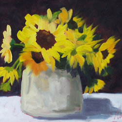Sunflowers (Original) by Nancy Tyler - Fresh cut sunflowers will always put a smile on your face.