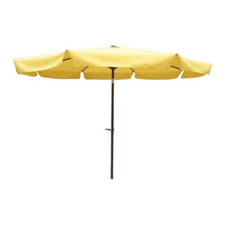 "International Caravan - 10' Drape Umbrella - Features: -8 rib canopy.-Waterproof canopy fabric.-Aluminum pole.-Foldable and easy to move.-Collection: Umbrella Stands.-Pole Finish: Aluminum.-Distressed: No.-Powder Coated Finish: Yes.-Gloss Finish: No.-Marine Varnish: No.-Canopy Material: Polyester fabric.-UV Resistant: Yes.-Rust Resistant: Yes.-Fade Resistant: Yes.-Opening Method: Crank/tilt mechanism.-Base Included: No.-Tilt: Yes.Dimensions: -Open Umbrella Width: 120"".-Open Umbrella Depth: 120"".-Pole Height: 96"".-Pole Diameter: 3"".-Overall Product Weight: 12 lbs."