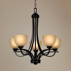 Franklin Iron Works Bennington Collection 5 Light Chandelier