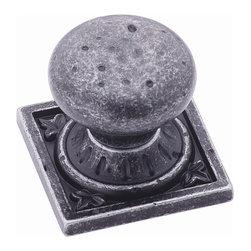 Amerock - Euro Stone Ambrosia Knob - Wrought Iron Dark (Set of 10) - Amerock Ambrosia Knob. Euro Stone. Square. Wrought Iron Dark. Lifetime Finish. 1-1/4 in. L x 1-1/4 in. W x 1-1/4 in. H (0.262 lbs)