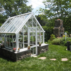 small English greenhouses / glasshouses - Victorian greenhouses / glasshouses - unheated Hartley Victorian Planthouse 8.5' x 10.5' used for seed starting herbs & veggies