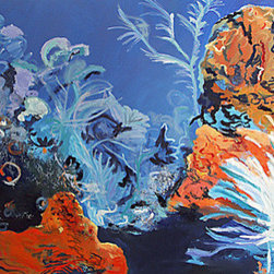 Coral Reef No. 5 (Original) by Jen Dacota - This painting was created as part of a series depicting underwater scenes.I devoted one year of my life to studying and painting exclusively the wonderful world of underwater life.