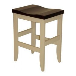 """Michael Anthony Furniture - Handcrafted Amish Mission Barstool in Solid Brown Maple 24"""" Counter Height - Handcrafted Amish Mission Barstool is made from solid North American brown maple hard wood. This product crafted by Amish wood craftsmen of the finest wood and finish."""