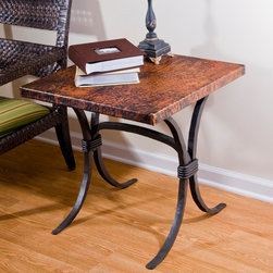 Salisbury End Table - Hand crafted with an industrial flair designed to accentuate the process of construction and create a clean, rugged and primitive appearance. Some customization is available for an up-charge in price.