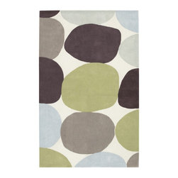 Surya - Surya Contemporary Cosmopolitan White  Fern Green 8'x11' Rectangle Area Rug - The Cosmopolitan area rug Collection offers an affordable assortment of Contemporary stylings. Cosmopolitan features a blend of natural Beige  Brown color. Hand Tufted of 100% Polyester the Cosmopolitan Collection is an intriguing compliment to any decor.