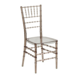 Flash Furniture - Flash Elegance Crystal Brown Stacking Chiavari Chair - If you've been to a wedding, chances are you've sat in a Chiavari chair. Chiavari Chairs have become a classic in the event industry and are also highly popular in high profile entertainment events. This chair is used in all types of elegant events due to its lightweight, stacking capabilities and elegant design. Keep your guests comfortable with optional cushions and keep your chairs beautiful with chair covers.