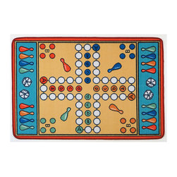 "Learning Carpets - Learning Carpets Indoor Outdoor Playmat Parcheesi - LC157 36"" x 52"" - The Royal Game of India-move the pawns around the ""board"" and make your way home, capturing and blocking your opponents on the way. Unlimited Warranty. Soil And Stain Resistant Washable Carpet. Durable Latex Gel Skid-Proof Backing. 100% Nylon Carpet. Meets All ASTM F963 Safety Standards. Indoor/Outdoor Usage. Able To Withstand Rugged Wear. Highest Inflammability Rating In The Industry. Award-Winning."
