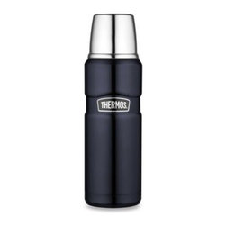 Thermos - Thermos Stainless King 16-Ounce Beverage Bottle - With stainless construction inside and out, this beverage bottle is unbreakable.