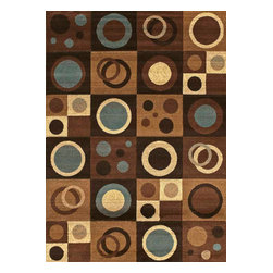 "United Weavers of America - United Weavers of America Urban Trends Croquet Blue 7'10"" x 10'6"" Area Rugs - United Weavers of America Urban Trends Croquet Blue 7'10"" x 10'6"" Area Rugs"