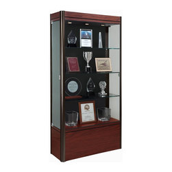 Waddell - Contempo 36 in. Medium Floor Display Case - The Waddell Contempo Display Cases bring a modern style into your space. Design surrounds a clean, seamless front to parade your prized possessions in high style.