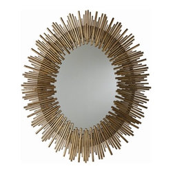 Prescott Iron Oval Mirror - Set the tone from the entryway with a mirror that looks like a collector's item. This oval shape is a fresh spin on sunburst mirrors. I would pair this with a mid-century console for an individual luxe-retro look.