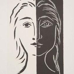 Pablo Picasso Estate Collection Portrait en Deux Parties Noire et Blanche Signed - OFFICIAL PABLO PICASSO COLLECTION HAND SIGNED & NUMBERED QUALITY ESTATE  APPROVED FINE ART!