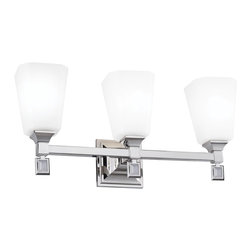 Murray Feiss - Murray Feiss Sophie 3 Bulb Polished Nickel Vanity Strip X-NP-30074SV - Murray Feiss Sophie 3 Bulb Polished Nickel Vanity Strip X-NP-30074SV