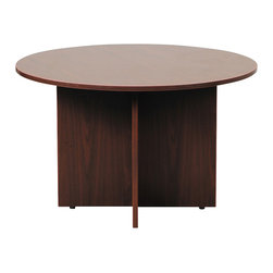 "Boss Chairs - Boss Chairs Boss 47 Inch Round Table in Mahogany - This 47"" round table can be used in many applications. The high pressure laminate is showcased with a 3mm edge banding. The Mahogany laminate is durable yet attractive"