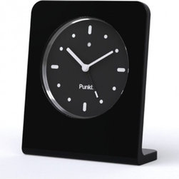 Punkt. - Punkt. AC 01 Alarm Clock - Black - Punkt. AC 01 offers you the pleasure of going back to the traditional alarm clock for everyday use. Why have your cell phone lying on your bedside table, when you can be woken up by a superb design object such as the AC 01? No fumbling around in the dark, no radiation emissions, and no unwanted calls in the middle of the night; just the pleasure of trusting your sleeping hours to a wonderfully simple object that, thanks to its extraordinary simplicity, will delight you every time you wake up to it. Designed by Jasper Morrison