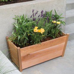 Arboria - Arboria Alta Rectangular Cedar Planter Multicolor - 826.1368 - Shop for Planters and Pottery from Hayneedle.com! If you love the look of cedar you re really going to love the Arboria Alta Rectangular Cedar Planter - and your plants will too. It s crafted of Western red cedar which is naturally resistant to rot and bugs not to mention easy to care for. If you d like to maintain the cedar color simply coat the planter with your own oil stain for extra UV protection. Includes four side panels two base boards and convenient assembly hardware. Made in the USA. About Arboria ProductsArboria products are designed and manufactured by LWO Corporation of Portland Oregon. Since its inception in 1980 LWO Corporation has developed a nationwide reputation as a designer and manufacturer of innovative high-quality wood products for the home and garden. Arboria is proud to feature distinctive high quality sustainable furniture and garden structures made in the U.S.A. from natural and renewable Western Red Cedar. In addition Arboria offers a complete line of imported casual furniture crafted from superior grade hardwood.