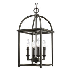 Progress Lighting - Progress Lighting P3884-20 Piedmont 4 Light Hall & Foyer In Antique Bronze - Progress Lighting P3884-20 Piedmont 4 Light Hall & Foyer In Antique Bronze