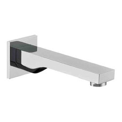 ALFI brand - ALFI brand AB9201 Square Tub Filler Bathroom Spout, Brushed Nickel - Enjoy the simplicity and modern elegance of this squared tub spout by ALFI brand and create an unparalleled soaking experience.