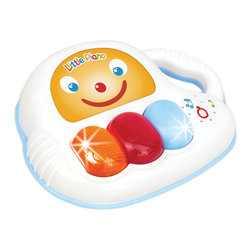 The Original Toy Company - The Original Toy Company Kids Children Play 1st Little Baby Piano - 1st Little Baby Piano. Light Effects. Pre-recorded melodies. Carrying handle. Auto power off. Power supply 2 AA batteries. Age 6 months plus. Weighs approximately 2.00 pounds.