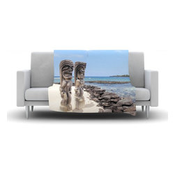 """Kess InHouse - Nastasia Cook """"City of Refuge"""" Coastal Fleece Blanket (30"""" x 40"""") - Now you can be warm AND cool, which isn't possible with a snuggie. This completely custom and one-of-a-kind Kess InHouse Fleece Throw Blanket is the perfect accent to your couch! This fleece will add so much flare draped on your sofa or draped on you. Also this fleece actually loves being washed, as it's machine washable with no image fading."""