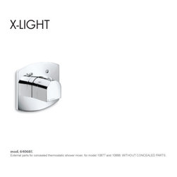 X- Light Faucets and Fixtures by Newform - X-Light Thermostatic Valve
