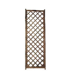 """Master Garden Products - Framed Bamboo Lattice Panel, diamond pattern opening, 24""""W x 72""""H - Our popular framed bamboo lattice fence panels are pre-assembled and easy to set up by tying them together with a galvanized wire. The frame is made of 1.5"""" Calcutta solid bamboo poles and the trellis is made of 1"""" bamboo slats."""