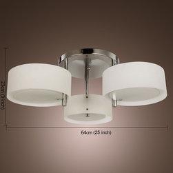 LightInTheBox Acrylic Chandelier with 3 lights (Chrome Finish) - 3 - light Flush Mount.