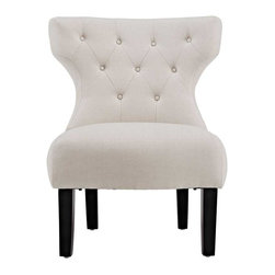 Modway - Howard Lounge Chair in Beige - An elegant blending of old and new, the Howard brings to mind old English clubs and parlor rooms, but adds a modern twist, keeping this piece both forever timeless and fashionable.