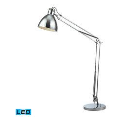 Dimond Lighting - Ingelside 1-Light LED Floor Lamp in Chrome - Dimond Lighting D2177-LED Ingelside 1-Light Floor Lamp in Chrome