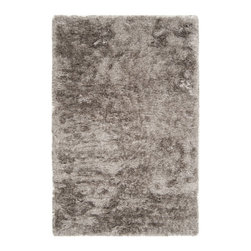 Surya - Surya Dunes DNE-3501 (Feather Gray) 5' x 8' Rug - Hand woven of 100% polyester, Surya's Dunes collection gives a contemporary feel to the traditional shag area rug. Slipping back from the seventies to spice your casual or formal area up with style this piece is sure to be timeless.