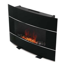 Jarden Home Environment - Bionaire Electric Fireplace Black - Black Bionaire Electric Fireplace Heater provides the ambiance and warmth of a fireplace without the mess! No logs no open fire no propane no fumes to deal with. Beautiful and modern fits in with your home and your lifestyle. Wall mountable or floor standing -move it if you wish. Fan heat disperses quickly into the room.
