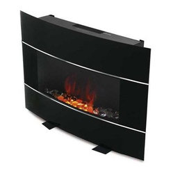 Jarden Home Environment - Bionaire Electric FireplaceBlk - Black Bionaire Electric Fireplace Heater provides the ambiance and warmth of a fireplace  without the mess! No logs  no open fire  no propane  no fumes to deal with. Beautiful and modern  fits in with your home and your lifestyle. Wall mountable or floor