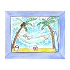 Oh How Cute Kids by Serena Bowman - Lazy Day at the Beach, Ready To Hang Canvas Kid's Wall Decor, 8 X 10 - Every kid is unique and special in their own way so why shouldn't their wall decor be so as well! With our extensive selection of canvas wall art for kids, from princesses to spaceships and cowboys to travel girls, we'll help you find that perfect piece for your special one.  Or fill the entire room with our imaginative art, every canvas is part of a coordinating series, an easy way to provide a complete and unified look for any room.