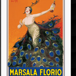 Amanti Art - Marsala Florio Framed Print - Exploding with color and passion, these posters are perfect for the collector of fine wine or vintage art.