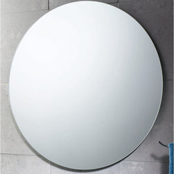 """Gedy by Nameeks - Planet 26"""" Vanity Mirror - Features: -Vanity mirror. -Finish: Polished. -Constructed of mirror. -Shape: Round. -Wall mounted. -For contemporary bathrooms. -Dimensions: 25.6"""" H x 0.8"""" D x 25.6"""" W."""
