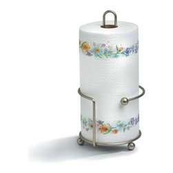 Spectrum Diversified Designs - Pantry Works Paper Towel Holder - Satin Nickel - From the Pantry Works Collection, this satin nickel Paper Towel Holder is designed with a wide sturdy base to prevents the unit from tipping while in use. Made of sturdy steel.