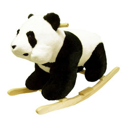 Trademark Global - Panda Plush Rocking Animal w Wood Base - Recommended for ages 2 yrs. old & up. Recommended Weight Limit: 80 lbs.. Soft and plush to the touch. Hand crafted with a hard wood core and stands on sturdy wood rockers. 30 in. L x 14 in. W x 20 in. H (13 lbs.). Seat Height: 19 in.This lovable, cuddly panda bear will be a hit with any child. This is much more than your average teddy bear.