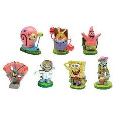"""Amazon.com: SpongeBob SquarePants® 2"""" Aquarium Ornaments, 7-Piece Set: Pet Suppl"""