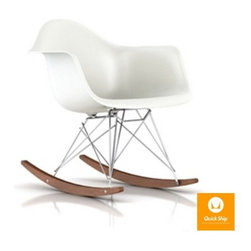Herman Miller - Herman Miller | Eames® Molded Plastic Rocker Chair, Walnut Rockers - Quick Ship - Design by Charles & Ray Eames, 1948.