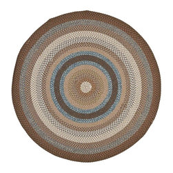Safavieh - Braided Tufted Hand Made Round Rug (8 ft.) - Size: 8 ft. Transitional style. Made from polypropylene. Multicolor. Made in India. Introducing Safavieh's Braided Rug Collection. The vibrant colors makes selecting this rug easy to match the decor in any room and are reversible to give excellent value. Care Instructions: Vacuum regularly. Brushless attachment is recommended. Avoid direct and continuous exposure to sunlight. Do not pull loose ends; clip them with scissors to remove. Remove spills immediately; blot with clean cloth by pressing firmly around the spill to absorb as much as possible. For hard-to-remove stains professional rug cleaning is recommended.
