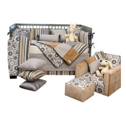 Grayson 5-Piece Crib Bed Set with Key Pillow