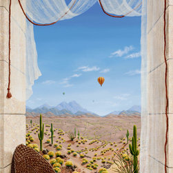 Murals Your Way - Sonoran Tapestry Wall Art - Painted by Dina Farris Appel, the Sonoran Tapestry wall mural from Murals Your Way will add a distinctive touch to any room