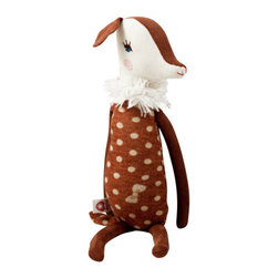 Maileg - Bambi Cuddle - Provide your child with a lovey that you won't mind carrying everywhere, by choosing this sweet and stylish stuffed deer for their crib. As your child grows, they'll get into the imaginative play possibilities this adorable deer offers — one side of her face has an eye open, and the other is shut.