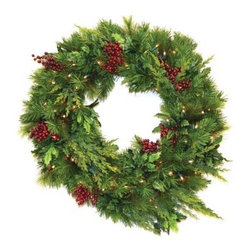 30 in. Estate Pre-lit LED Wreath - Battery Operated - About Brite IdeasEstablished in Omaha Neb. in 1990 Brite Ideas Decorating Inc. has become a holiday lighting industry leader providing customers across the United States with durable cutting edge lighting displays for both residential and commercial applications. Featuring a full line of innovative LED products and uniquely designed displays Brite Ideas appeals to tradition modern simple and even ornate tastes. It is their mission to promote excellence in the holiday lighting industry. With that in mind Brite Ideas products go above and beyond the standard to create the best holiday atmosphere for you.