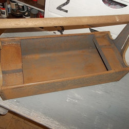 PMD Vintage Craftsman metal tool tote with wood handle - Peanut McKenzie Designs Vintage items at various venues